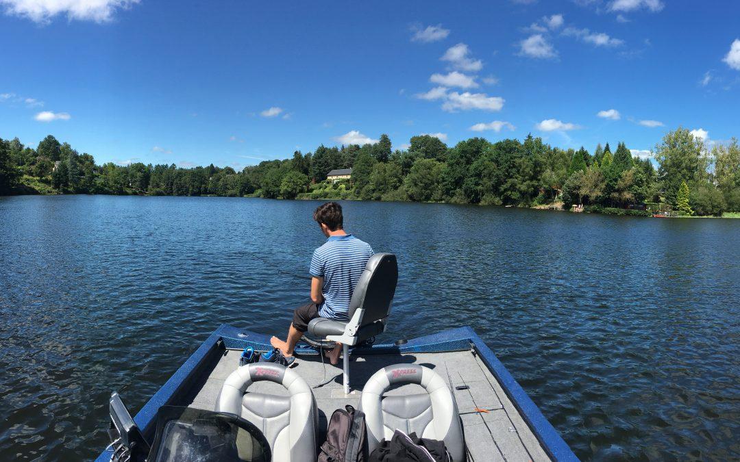 Journée de pêche ensoleillée sur la Dordogne